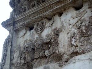 Rome's Trajan Arch with Looted Menorah and Enslaved Judean Jews