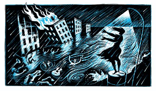 flood-barefoot-woman